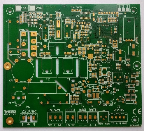 Gold Plated Printed Circuit Board Design Service Example